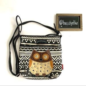 Union at Aztec print owl crossbody bag